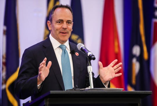 Kentucky Gov. Matt Bevin spoke at the annual Southern States Energy Board meeting at the Seelbach Hotel Tuesday morning. He said the need for fossil fuels will continue for decades.