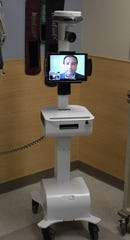 The TeleStroke System allows the interventional neurologist to beam into the patient's bedside from a remote location.