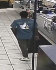 Manitowoc police are in search of this man, who they say robbed Popp's Harbor Town Citgo on Sept. 21.