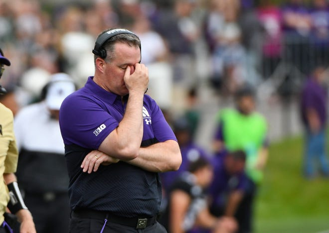 Northwestern's play through three games has been hard for even head coach Pat Fitzgerald to watch at times.