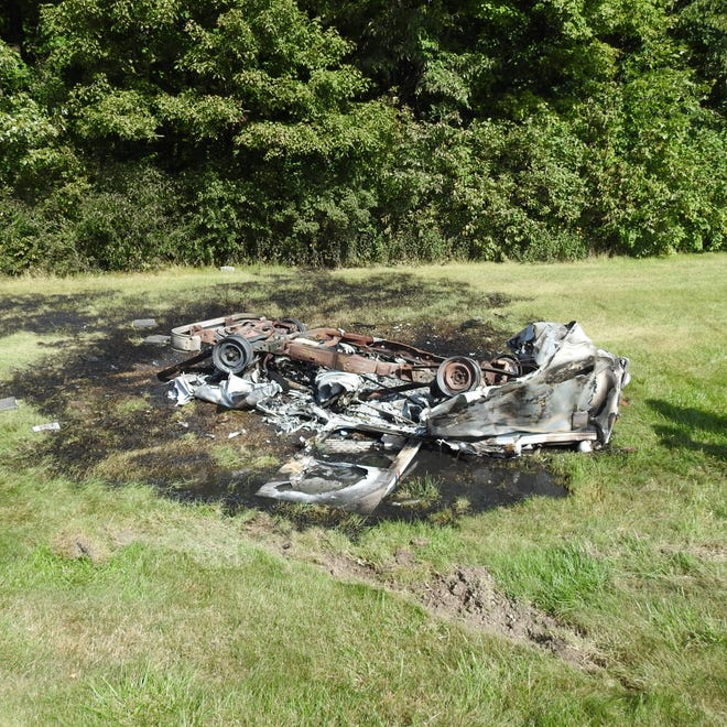 A mail truck in Oconomowoc caught fire when it was struck by a drunken driver, according to police. The truck and its contents were a loss.