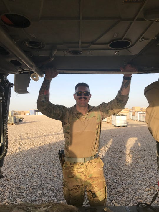 Daryn Colledge deployed to Afghanistan as a crew chief in an Idaho National Guard medevac unit. During his nine-year NFL career, Colledge played five seasons for the Green Bay Packers and won a Super Bowl ring.