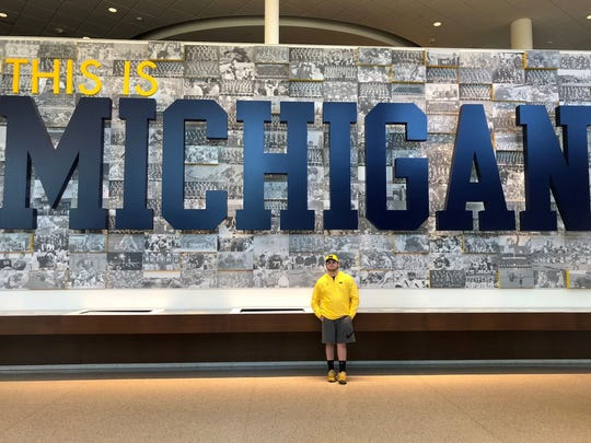 Ben Janowski, a junior at Menomonee Falls High School, has been a University of Michigan fan since he was 9.