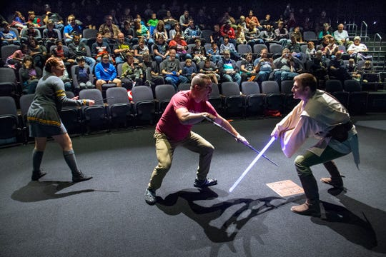 E.D.G.E. of Orion holds lightsaber battles, and teaches visitors how to choreograph their own battles.