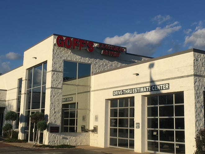 Goff's Collision Repair Centers, which has seven locations in metro Milwaukee, is being acquired by Texas-based Caliber Collision. Pictured is Goff's Waukesha auto body shop.