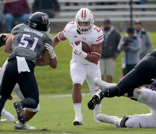 Jonathan Taylor finished with 46 yards on 11 carries and fumbled twice in Wisconsin's loss last season at Northwestern.