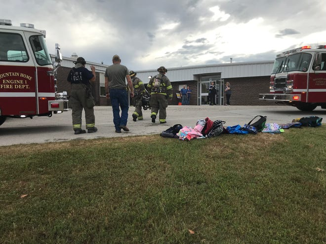 Mountain Home firefighters are at Nelson Wilks Herron Elementary School after smoke in a hallway triggered a fire alarm. Firefighters are still investigating, but preliminary indications are no visible flames were seen and the smoke may have been caused by an electrical issue. Children attending an after-school program were safely evacuated and no one was injured as a result of the incident.
