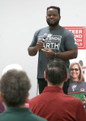 Saturday's featured speaker at East Side Baptist Church was Yves Dushime, a former Operation Christmas Child shoebox recipient. Dushime's family fled the Rwandan genocide in 1994 when his mother was eighth-months pregnant with him, relocating to the Congo, Kenya and eventually Togo. At age 11, Dushime's father, who was a pastor in Togo, received 300 shoeboxes for the children of his congregation, which Dushime said not only changed his life, the lives of the other children, but those of the adults as well.