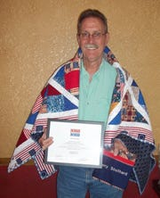Local residentTerry Southard, was recently awarded a Quilt of Valor by the Mountain Home Quilts of Valor Group, at a ceremony with family and friends. Southard served in the 334th Attack Helicopter Company in Vietnam, piloting a Cobra helicopter.As a Chief Warrant Officer, Southard received the Bronze Star, the Air Medal with Valorand numerous other combat citations.