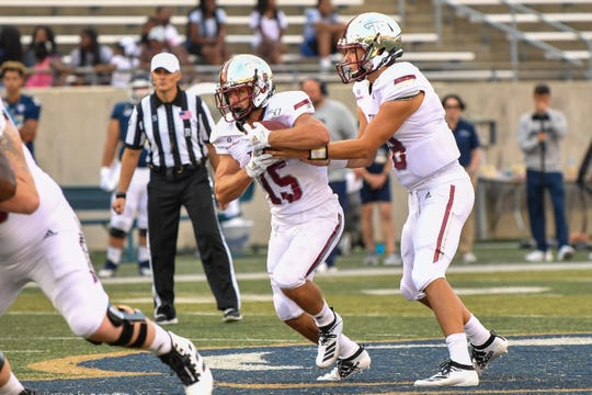 Tanner Blatt ran for 44 yards on 11 carries in his first college game, a Troy win at Akron last weekend.