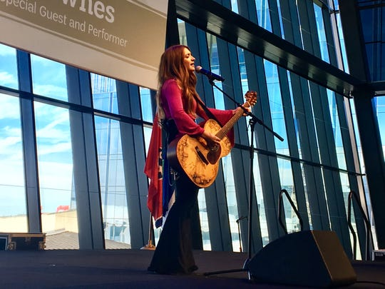 Tenille Townes performs during the 2019 annual Girl Scout Luncheon in downtown Nashville.