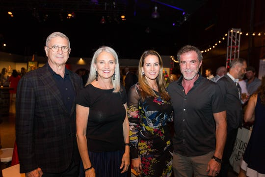 Neil Krugman, Leigh Pratt and Jennifer and Billy Frist attend the fifth annual CigArt at OZ Arts Nashville.