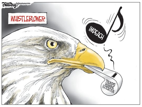 Eagle blows whistle on Trump, Ukraine.