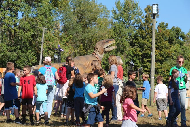 Students from Licking County schools were invited to experience the dinosaurs at Legend Valley Concert Venue on Tuesday, Sept. 24, 2019 ahead of Lost Lands Festival.