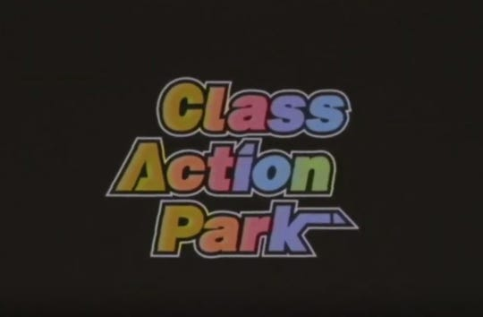 "The logo for the 2019 documentary ""Class Action Park"" based on Vernon, N.J.'s Action Park water park."