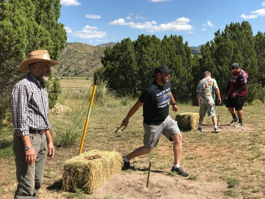 Winners of last year's Mimbres Valley Harvest Festival Horseshoes Tournament took home gift certificates from local restaurants and merchants.