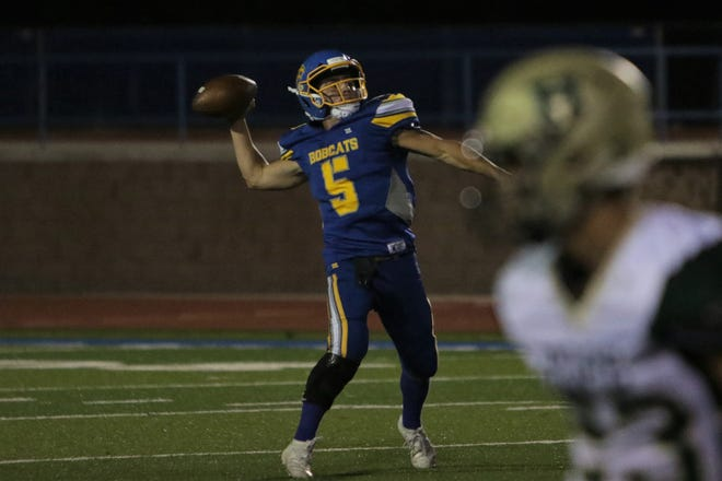 Bloomfield quarterback Vince Marquez, seen here in last Friday's Homecoming game against Hope Christian, was named the Daily Times athlete of the month for September.