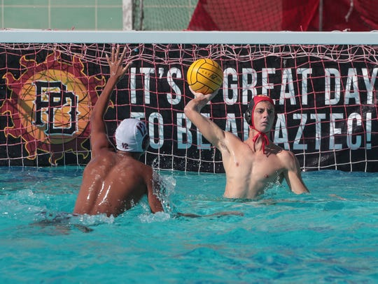 Palm Desert defeats Rancho Mirage in water polo in Palm Desert, Calif., September 23, 2019.