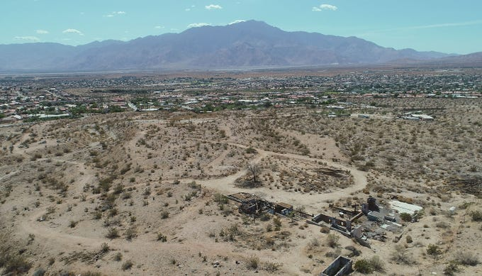 Robolights creator Kenny Irwin purchased a 10-acre site in the foothills near Pierson Boulevard and Miracle Hill Road in Desert Hot Springs, Sept. 24, 2019.