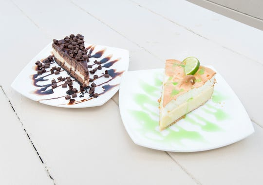 Triple chocolate cheesecake and key lime pie are among the desserts Fish House will serve during Summer Restaurant Week.  Gregg Pachkowski/gregg@pnj.com Triple chocolate cheesecake and keylime pie at Fish House in Pensacola on Wednesday, July 25, 2018.
