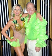"""Lindsay Arnold and Sean Spicer attend the """"Dancing With The Stars"""" Season 28 show at CBS Television City on September 16, 2019 in Los Angeles."""