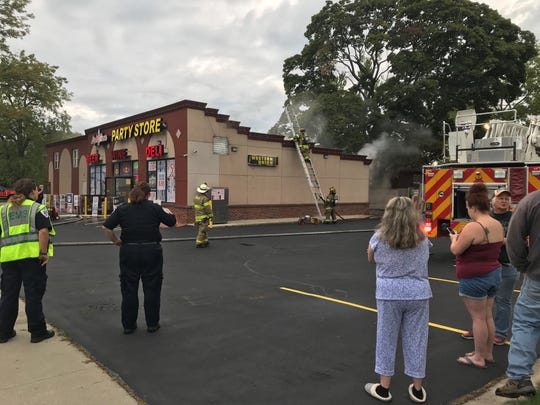 Firefighters were called to a fire at the Lighthouse Party Store in Port Huron Tuesday morning.