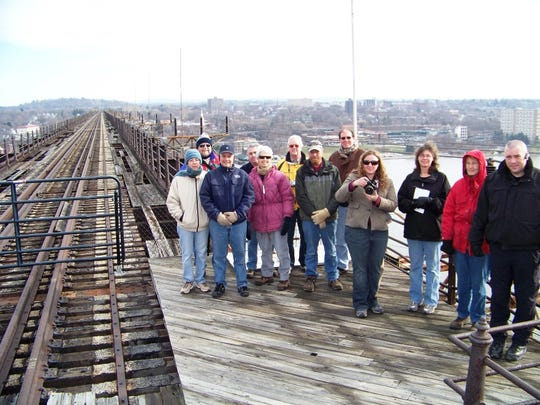 Fred Schaeffer took hundreds of residents onto the Poughkeepsie Railroad Bridge in 2007 and 2008 to show off the views and recreational potential a walkway could bring. This photo was taken Jan. 13, 2008.