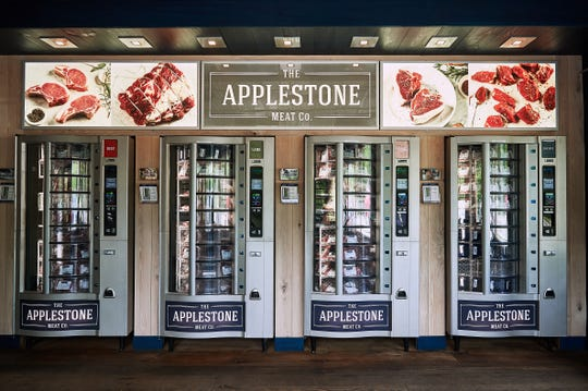 Applestone Meat Company offers  serve-yourself vending machines stocked with vacuum-sealed packages of everything from Porterhouse steaks, short ribs and rack of lamb to hamburger meat and home-made sausages. It's like the Horn & Hardart of meats.