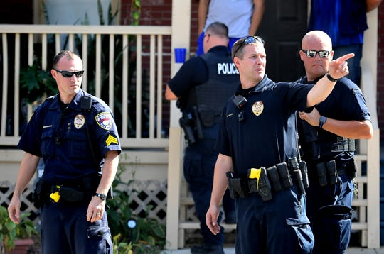 York City Police investigate after a shooting occurred in the 200 block of Kurtz Avenue about 2:15 p.m. Tuesday, Sept. 24, 2019. A female shooting victim was taken by ambulance to York Hospital. The shooting occurred near McKinley K-8, which was placed on lockdown while police investigated. Bill Kalina photo