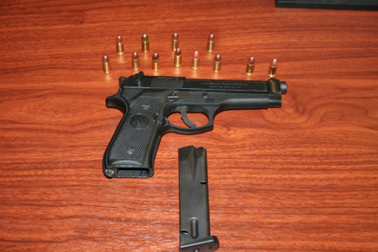 A semi-automatic handgun and bullets seized from Shannon Dominique Ritter by York City Police.