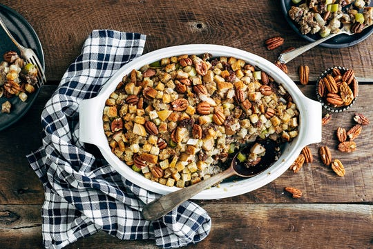 Pecans help Italian sausage and apples bulk up this cool-weather stuffing.