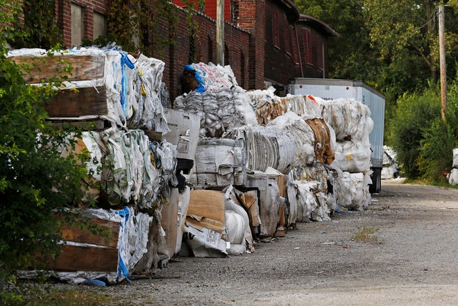 Material waits to be recycled on the property of Cornerstone Trading Group on North West F Street in Richmond on Tuesday, Sept. 24, 2019.