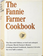 The Fannie Farmer Cookbook cover, 11th edition, 1965.