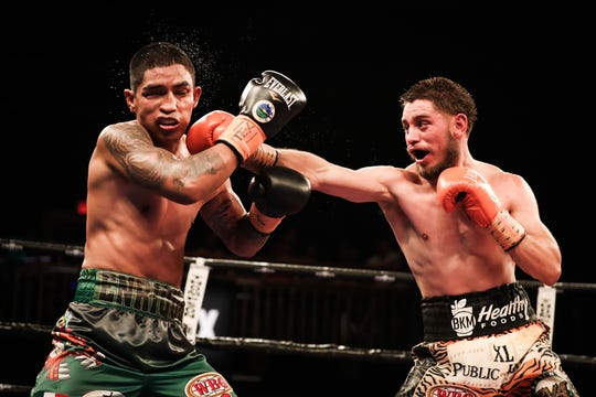 Ruben Villa IV (right), landed 44 percent of his punches, over half of which were power punches. Sept. 20, 2019.