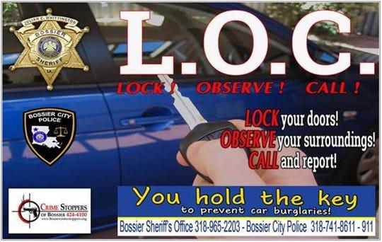 Crime prevention campaign sign