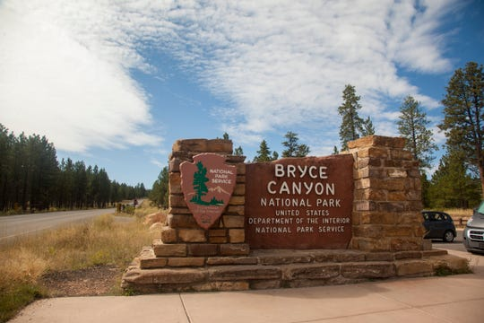 Entrance to Bryce Canyon Saturday, Sept. 21, 2019.