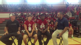 Jon Santucci interviews Vero Beach head football coach Lenny Jankowski, RB Jaden Meizinger and DB Evian Irving.