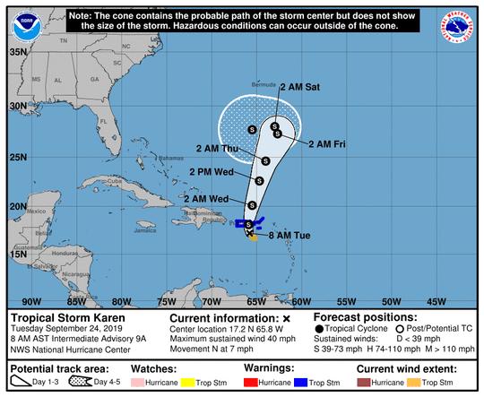Tropics 8 a.m. Sept. 24, 2019