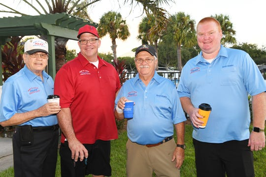 Bill Corbett, left, Scott Johnson, Kent Craig and Henry Binsbacher at the Port St. Lucie Police Athletic League's 2019 Golf Tournament.
