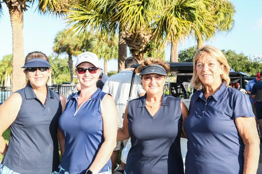 Cynthia Zeller, left, Trina Hayes, Gail Abour and Dorothy Bradshaw joined several other members of the Palm Beach Sheriff's Office at the Port St. Lucie Police Athletic League's 2019 Golf Tournament.