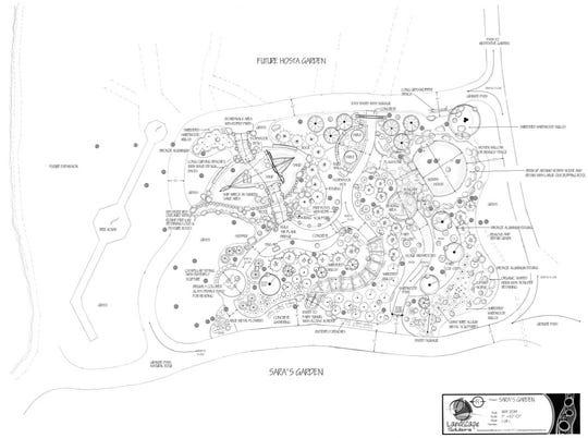 A rendering of Sara's Storybook Garden