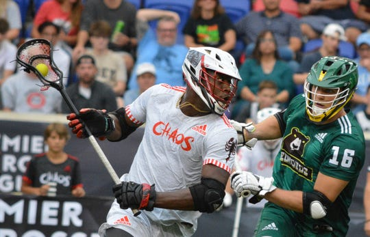 To play at the professional level, former college stars need to get stronger and faster. Chaos midfielder Myles Jones (left) is a match-up nightmare at 6-foot-5 and 260 pounds.