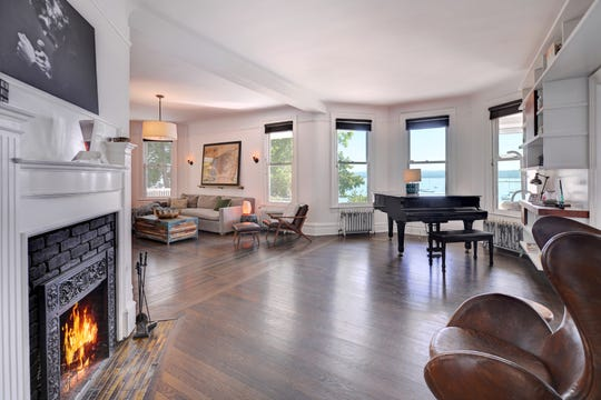 There are views of the Hudson River from many of the home's windows.