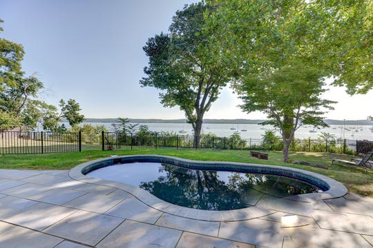 The property also includes a saltwater pool.