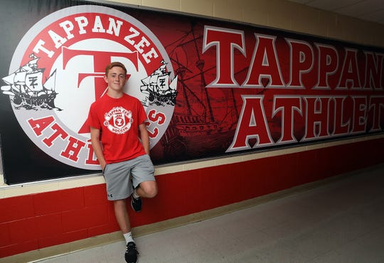Rockland Scholar-Athlete of the Week Dylan Shalvey was photographed at Tappan Zee High School Sept. 24, 2019.