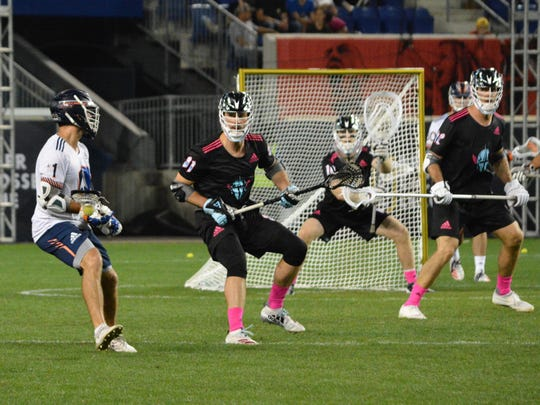Chrome midfielder John Ranagan (31) is also playing for U.S. Lacrosse at the World Indoor Championships. The former Yorktown standout left an insurance job in Manhattan and is considering making lacrosse a full-time job.