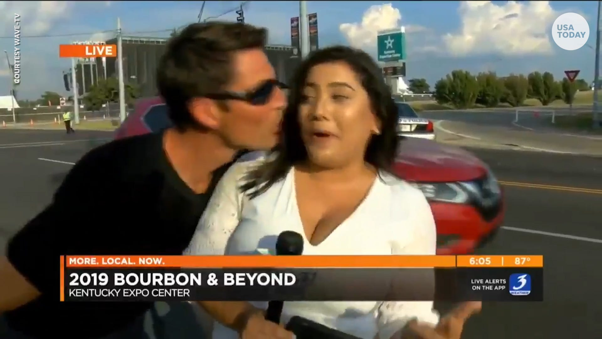 Usa News Live >> Reporter Kissed By Stranger During Live Broadcast