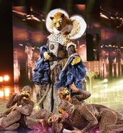 """Leopard on """"The Masked Singer."""" Do you know who it is?"""