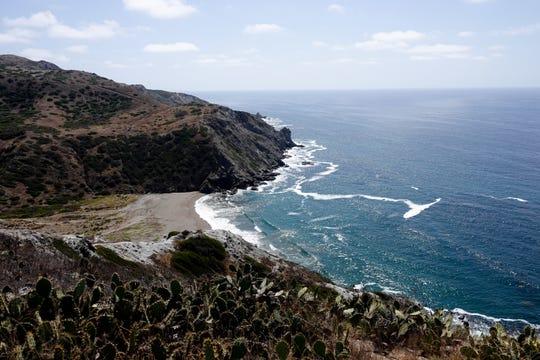 The uninhabited western side of Catalina island