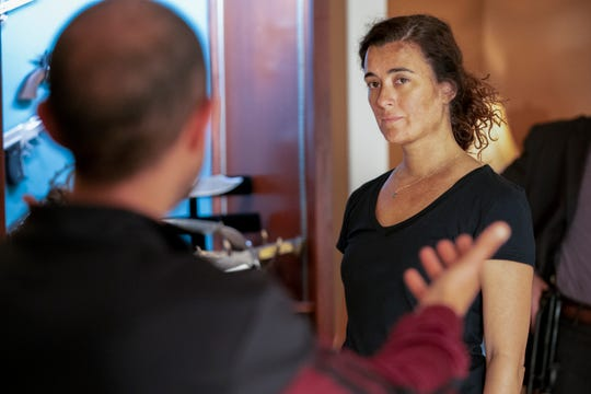 Ziva David (Cote de Pablo) doesn't look like she has a lot of patience as she seeks information that will help her find a woman who is trying to kill her loved ones in the Season 17 premiere of 'NCIS.'
